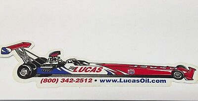 """LUCAS OIL Products Sticker, Dragster Number 5, 8"""" x  2-1/2"""""""