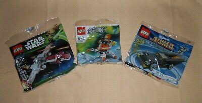 Lot of 3 LEGO Star Wars Z-95 30240 Galaxy Squad 30230 Super Heroes Batman 30161