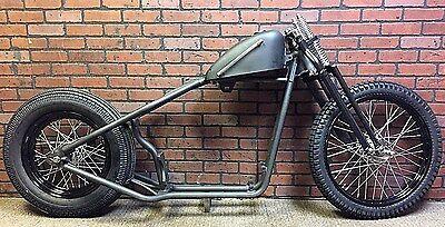 Black Rolling Frame ( Sportster Bobber Rolling Chassis / Frame Black Springer  Black P coated)