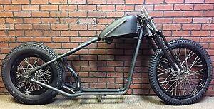 Sportster Bobber Rolling Chassis / Frame Black Springer  Black P coated Wheels