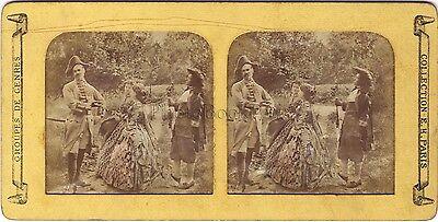 Scene of genre theelegance Fashion Diorama Tissue Stereo Vintage ca 1860