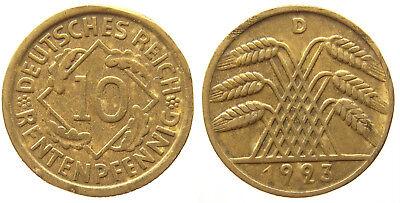 Deutsches Reich 10 Rentenpfennig 1923D Me (1) gebraucht kaufen  Laufenburg