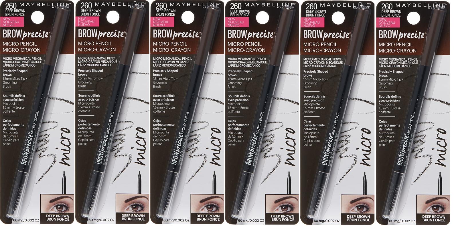 Maybelline New York Brow Precise Micro Pencil, Deep Brown, 0