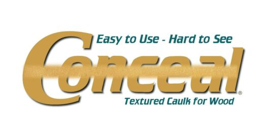 Sashco Conceal Textured Calk for Wood, Case of 12, 10.5 oz Cartridges