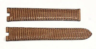 Authentic Cartier Round Patch Brown Alligator 16MM x 14MM Watch Bands 3A5F5P01