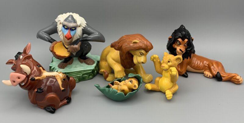 Disney Lion King Set of 6 Vintage Ceramic Figures