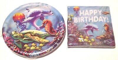 Shark Plates And Napkins (Birthday Party 9