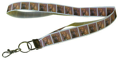Dogue de Bordeaux French Mastiff of Dog Lanyard Key Card Holder Perfect Gift