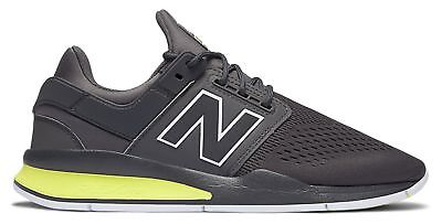 New Balance Male Men's 247 Sport Style Lightweight Shoes Grey With (Vogue Green)