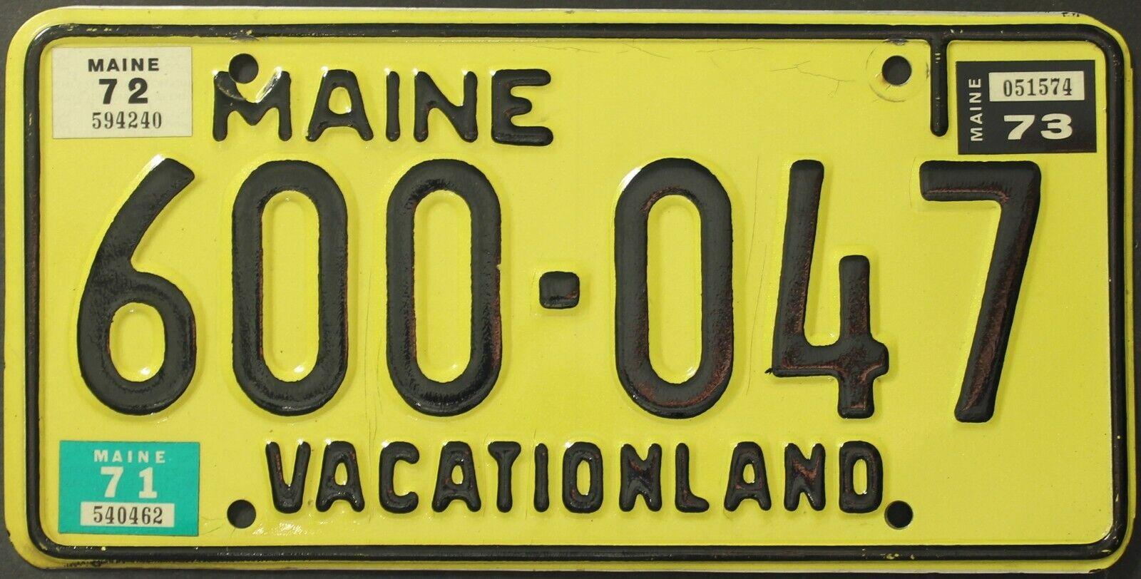 Original Classic Nummernschild License Plate USA Maine Passenger Plaque Targa