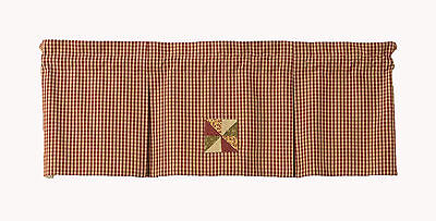 Window Curtain Box Pleated Valance - Mill Village by Park Designs