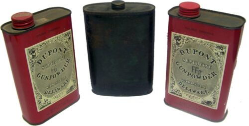 Lot of 3 One Pound DUPONT & UNKNOWN Empty Advertising Tins