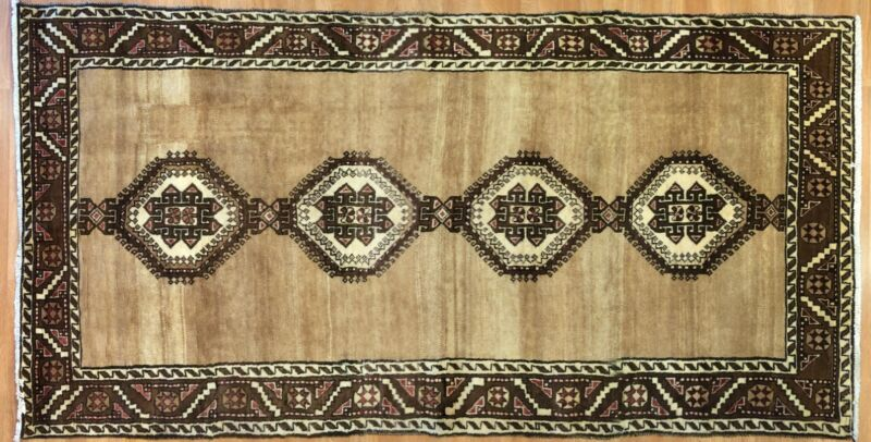 Terrific Tribal - 1930s Antique Oriental Rug - Nomadic Carpet - 4.5 X 8.8 Ft.