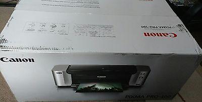 NEW Canon Pixma PRO-100 Digital Photo Color Professional Inkjet Printer w Inks
