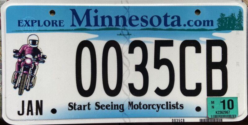 Minnesota Start Seeing Motorcyclists License Plate