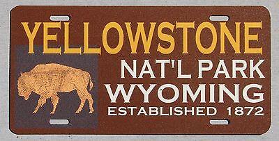 Yellowstone National Park Buffalo Souvenir License Plate Wyoming Montana Idaho