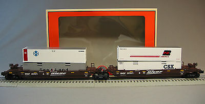 LIONEL BNSF MAXI-STACK 2 PACK csx up ttx  husky 6-30211 train container 6-26485