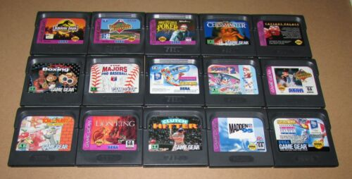Lot of 15 Sega Game Gear Games Wholesale Lot Fast Shipping!