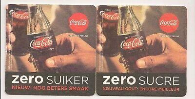 """Coca Cola Bierdeckel/Coaster aus Belgien """"Coke ZERO"""" comprar usado  Enviando para Brazil"""