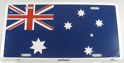 Australia Flag License Plate - AUSTRALIA FLAG METAL LICENSE PLATE AUSTRALIAN SIGN L167