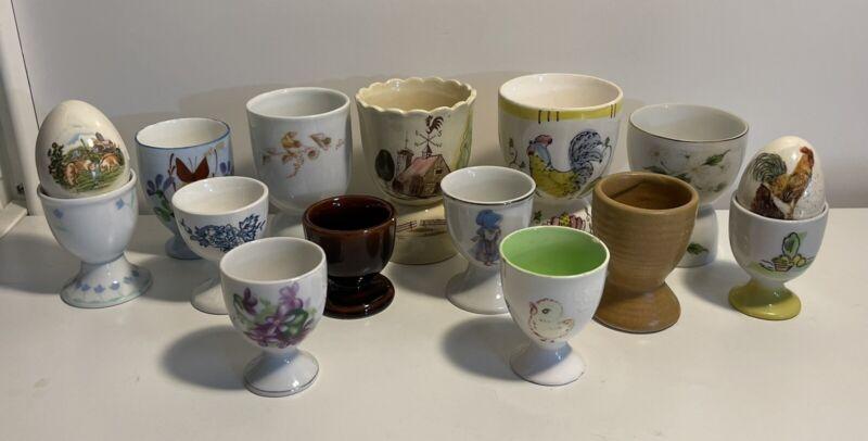 Vintage Antique Egg Cup Collection 15 pcs.