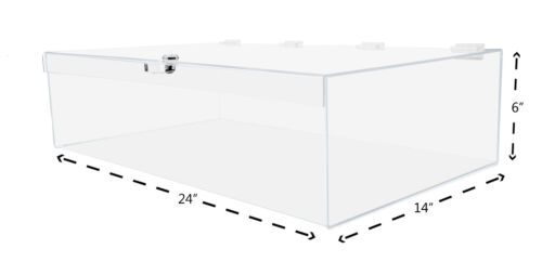 Acrylic Lucite Locking Security Show Case Display Case