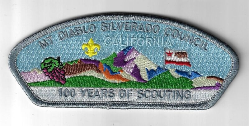 Mt Diablo Silverado Council SAP S-6 100 Yrs. Of Scouting California GRY Bdr. (CS