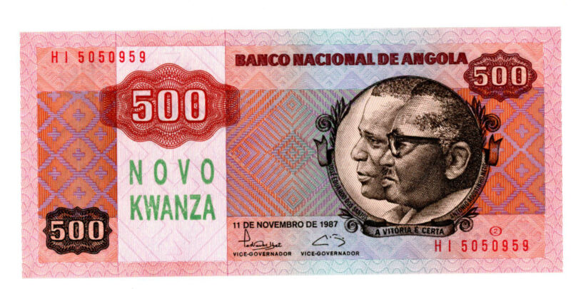 Angola … P-123 … 500 Kwanzas … 1987 … *UNC*