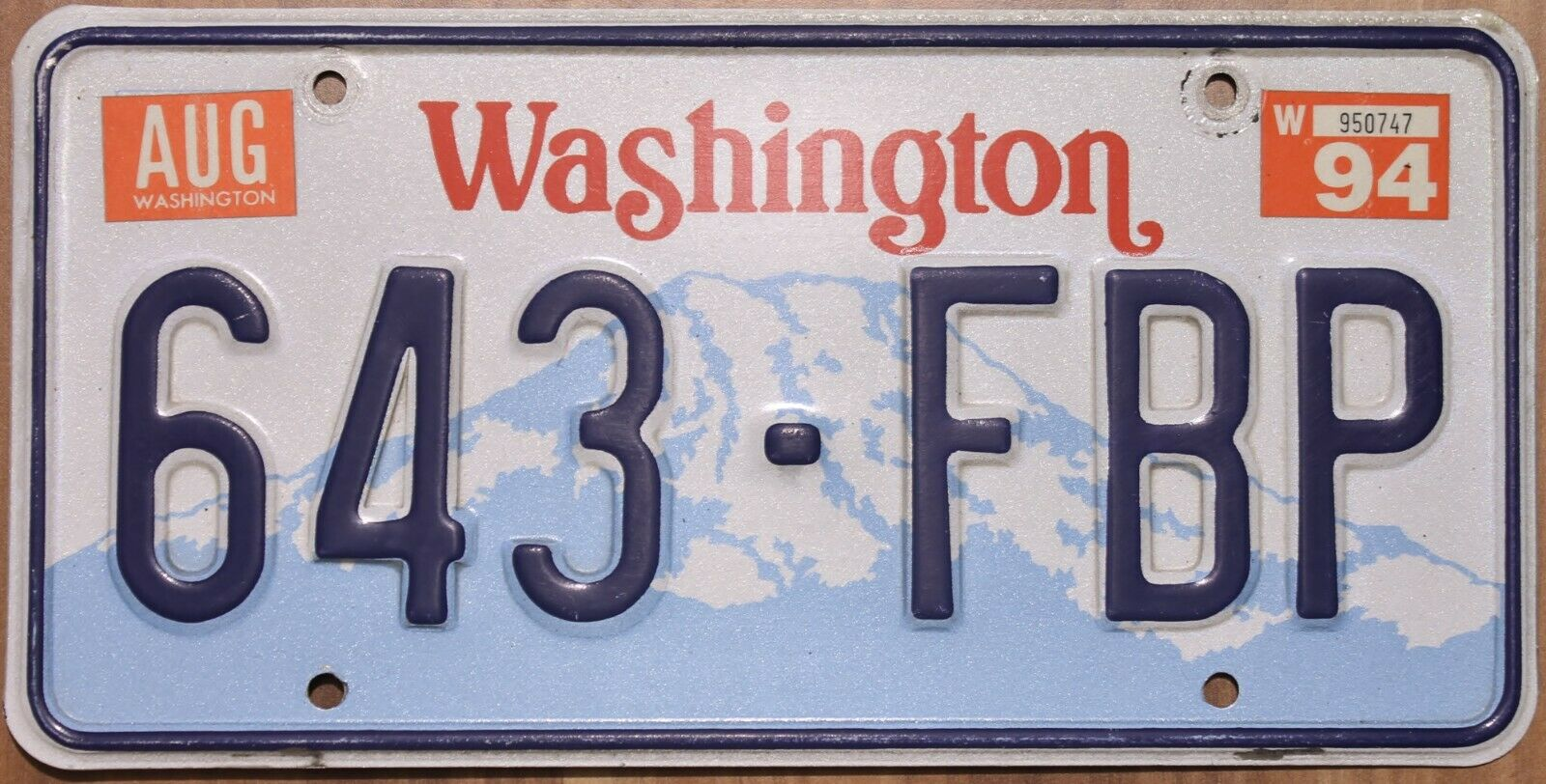 Original Nummernschild License Plate USA Washington VARIOUS TYPES Plaque Targa