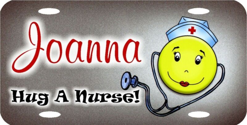Personalized Custom Nurse LPN RN BSN Smiley Medical License Plate Any Writing
