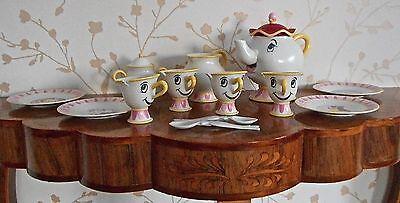 MRS POTTS & CHIP BUBBLING TEASET-DISNEY BEAUTY&BEAST PERFECT FOR A PRINCESS TEA!