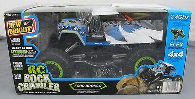 New Bright RC Rock Crawler Vaughn Gittin Jr Ford Bronco 1:15 4x4 All Wheel Drive