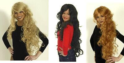 Damen Perücke LOCKENPRACHT blond rot braun Locken Kostüm mittelalter Magd - Kostüm Locken Perücke