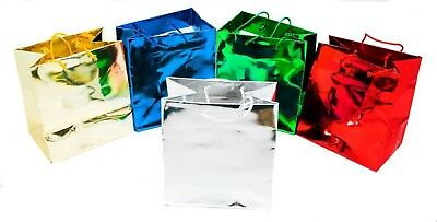 Novel Box™ Metallic Glossy Euro Tote Paper Gift Bag Bundle, 20 pack Metallic Gift Bag
