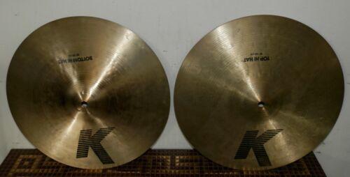 """15"""" K Zildjian EAK IAK Hihats Hi Hat Cymbals- Pre Serial Number. Excellent Cond."""