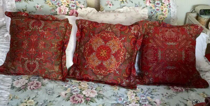 3 Ralph Lauren Galahad Throw Pillows Plus More