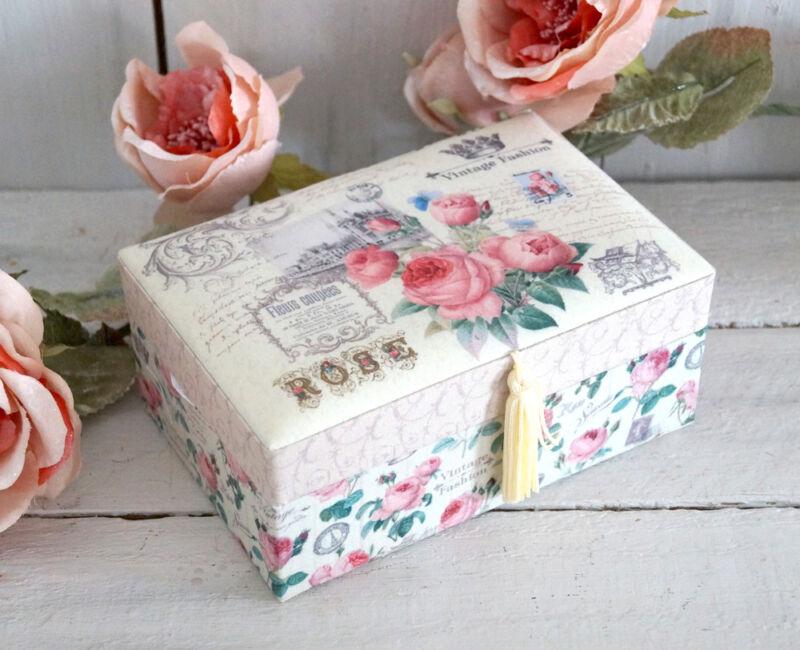 Schmuckkasten Schmuckkästchen Schmuckkoffer Schmuckschatulle rosa Mädchen Kinder Gelb L