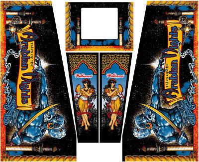 Tales of the Arabian Nights Pinball Machine Cabinet Decals NEXT GEN - (Tales Of The Arabian Nights Pinball Machine)