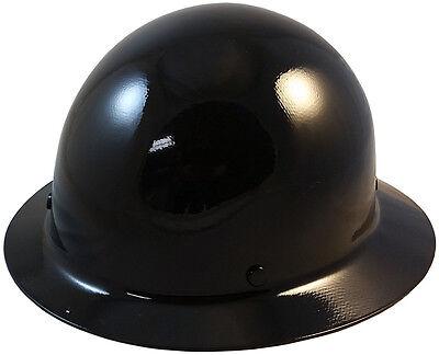 Msa Black Skull Gard Fiberglass Fb Hard Hat With Ratchet Or Pin Lock Susp