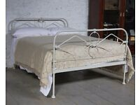 Vintage, antique cast iron end of 19th century bed