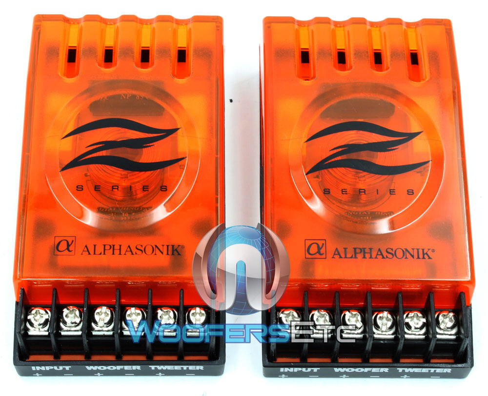 (2) Orange 2-way Passive Crossovers For Car Stereo + Home...