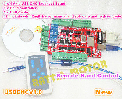 4 Axis Nema23 Stepper Motor Breakout Board Controller Usbcnc Interface Handle