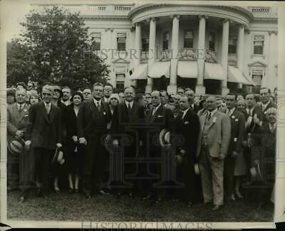 1930 Press Photo advertising Federation of America delegates at White House.