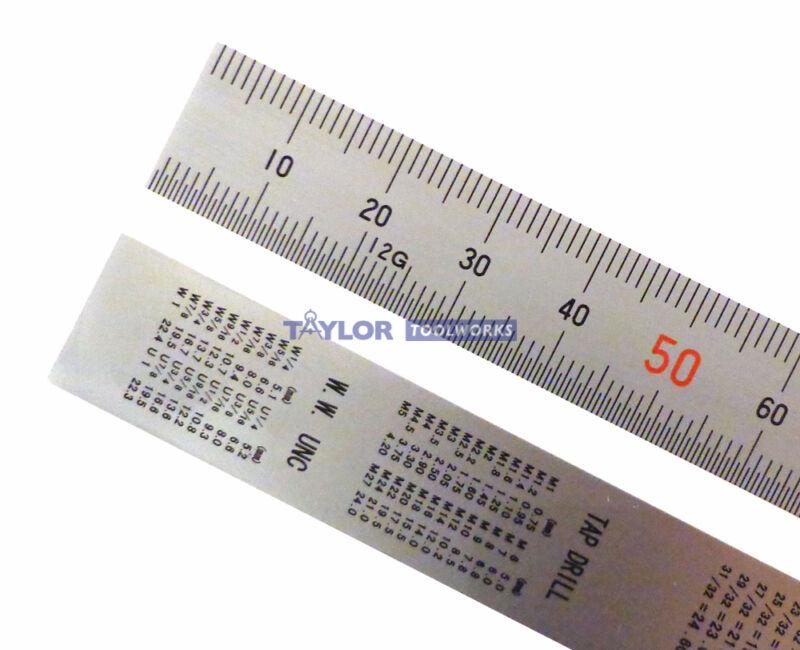 Shinwa 150 mm Metric Rigid Zero Glare Machinist Rule mm and .5 mm markings 101A