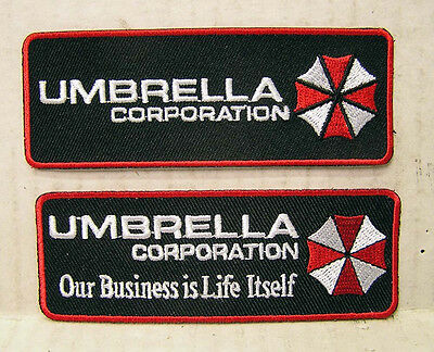 Resident Evil Umbrella Corporation Logo Embroidered Patch Set of 2 (REPA-HLSET)