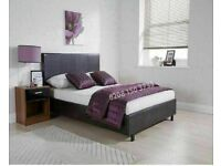 ☀️☀️UK BEST SELLING BRAND☀️☀️LEATHER BED-DOUBLE SIZE FRAME -BLACK-BROWN- WITH MATTRESS