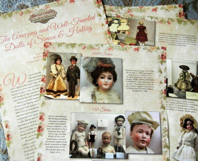 15p History Article + Paper Doll -  Antique Bisque Dolls of Simon & Halbig