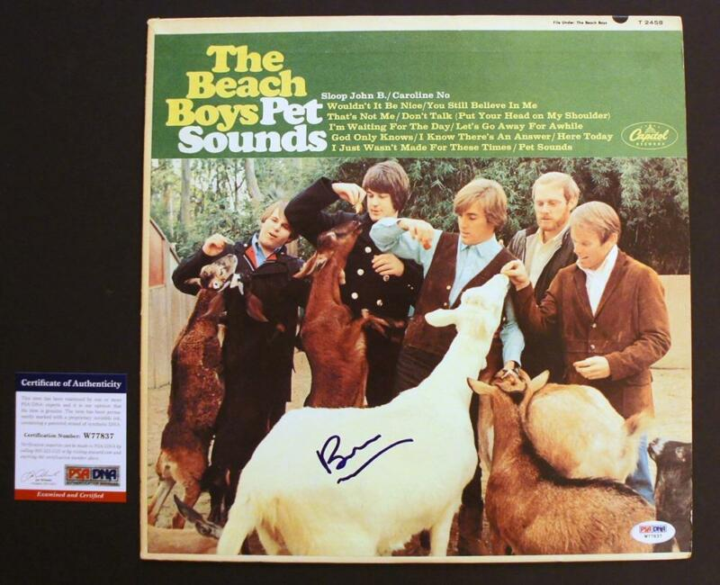 *PSA/DNA* - BRIAN WILSON SIGNED - Beach Boys PET SOUNDS Vinyl (Sloop John B) (1)