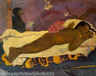 The Spirit of the Dead Watches by Gauguin 8x10 Print Girl Nude Bed Death Art 089
