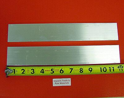 2 Pieces 12 X 2 Aluminum 6061 Flat Bar 12 Long T6511 Plate New Mill Stock